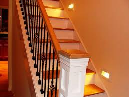 interior home interior design with straight stair using oak tread