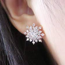 beautiful ear rings beautiful snowflake earrings frosty dreams