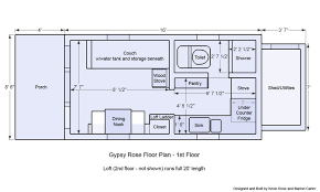 tiny house on wheels floor plans gypsy rose floor plan 1st floot