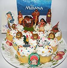 amazon com disney moana movie deluxe mini cake toppers cupcake