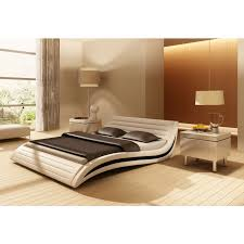 Leather Bed Frame Queen Apollo Contemporary Eco Leather Bed