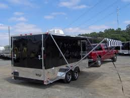 Toy Hauler Awning 7x16 Enclosed Motorcycle Cargo Trailer A C Unit W Awning Toy