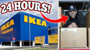 ikea hours biggest ikea 24 hours in ikea overnight challenge 24 hour