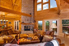 beautiful log home interiors log cabin décor with beautiful wooden color unique hardscape design