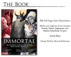 immortal book of myths and legends by o gami kickstarter