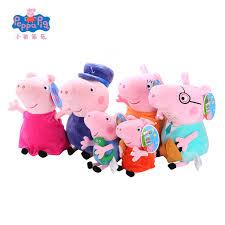 Peppa Pig Plush Original Brand Peppa Pig Plush Toys 19 30cm George Pig Family Set