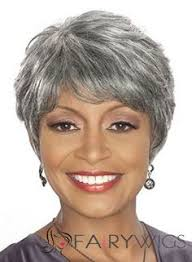 gray hair pieces for american gray wigs for older women straight black african american