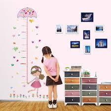 toise chambre b diy girafe toise mesure stickers muraux pvc décoration murale de