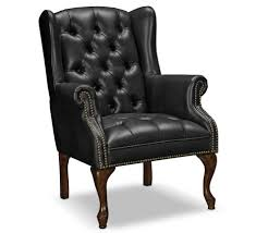 Black Leather Accent Chair Living Room Leather Accent Chairs For Living Room In Black Color