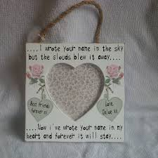 shabby chic personalised vintage wooden photo frame plaque happy