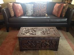 Living Room Wooden Center Table Amazon Com African Carved Wooden Handmade Trunk Chest Center