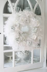 Home Decoration Stuff Decorating Ideas Fantastic Decorative Round White Feather Wreath