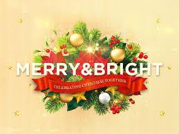 merry bright christmas motion loop church