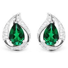 emerald earrings 925 sterling silver nano russian emerald earrings free shipping