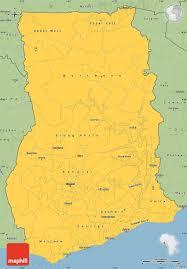 Accra Ghana Map Savanna Style Simple Map Of Ghana