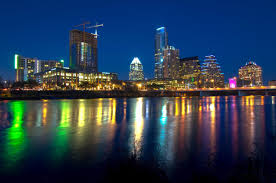 Austin Texas Christmas Lights by Austin Texas Skyline At Night Wallpaper