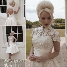 vintage summer wedding dresses aliexpress com buy high neckline wedding dress