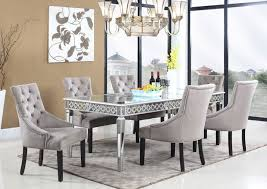 Quality Dining Room Tables Attractive Mirrored Dining Table At Room Set Cintascorner