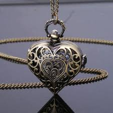 ladies pocket watch necklace images Luxury heart shaped pocket watch rebel goth jpg
