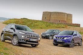 nissan jeep jeep cherokee vs nissan qashqai u0026 land rover freelander auto express