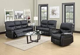 reclining sofa and loveseat set amazon com 3 pcs motion sofa loveseat recliner sofa set living room