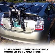toyota prius bike rack toyota prius trunk bike rack saris bones 86 2 car rack advice