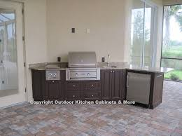 Outdoor Kitchen Cabinet Kits by Kitchen Unfinished Wood Outdoor Kitchen Cabinet With Louver Doors