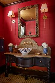 Red Bathroom Cabinets Custom Bathroom Wall Cabinets With Traditional Red Bathroom