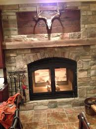 double sided wood burning fireplace insert with blower home