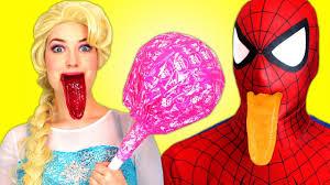 spiderman frozen elsa u0026 anna pink spidergirl ghost funny