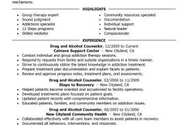 Substance Abuse Counselor Resume Example by Drug And Alcohol Counselor Resume Example Social U0026 Services Sample