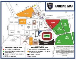 Mls Teams Map Parking Information Stanford Stadium San Jose Earthquakes