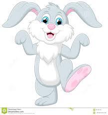 happy rabbit cartoon stock illustration image 60240725