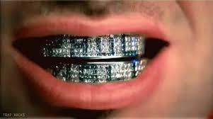 diamond stud on tooth wearing grillz teeth jewelry in 2017