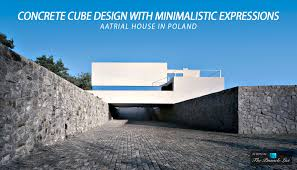 concrete cube design with minimalistic expressions at the aatrial