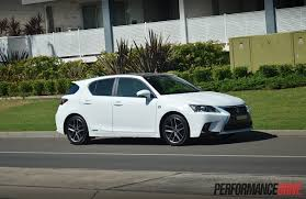 lexus used car australia lexus ct 200h f sport review video performancedrive