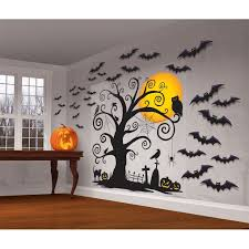 halloween wall cover halloween spooky cemetery wall cover kit party decoration funny