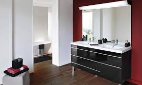 mobilier italien design cuisine meuble sous vasque suspendu en teck pas cher tikamoon