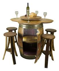 Wine Tasting Table Safe Retailing Wine Barrel Displays Air Vacuum Systems Air
