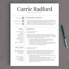 classic professional resume template for by landeddesignstudio