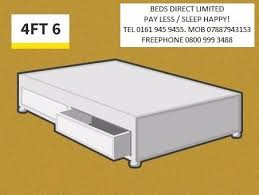 Silent Night King Size Bed Base 145 00 New Silentnight King Size Drawer Divan Base With Either A