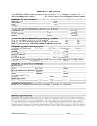 basic rental application form format pre tenancy application form