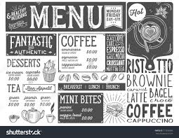 coffee drink menu restaurant cafe design stock vector 713579386