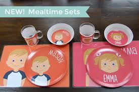 personalize plate kids mealtime sets available with personalized plates bowls cups