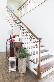 home stairs decoration christmas staircase decorating on a dime in my own style