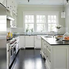 honed black granite countertops transitional kitchen