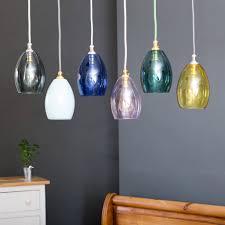 Colored Glass Pendant Lights Bertie Mini Coloured Glass Pendant Light By Glow Lighting