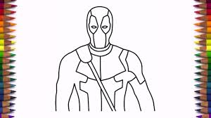 how to draw deadpool step by step easy drawing youtube