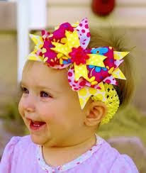 infant hair bows items similar to hair bow yellow hair bow baby bow infant