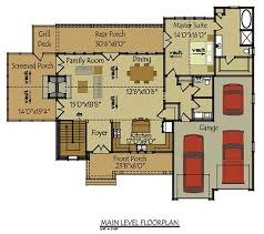 3 Bedroom Floor Plans With Garage Two Story Cottage House Plan Cottage Style House Plans Cottage